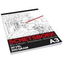 schetsboek Pro junior A3 papier wit 20 vellen