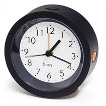 wekker Firefly 10,5 cm ABS zwart/wit