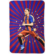 fleecedeken Neymar Junior 100 x 140 cm blauw/rood