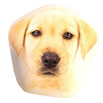 kussen hond junior 10 cm polyester beige