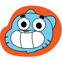 kussen Gumball 40 x 40 cm polyester oranje/blauw