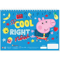 tekenblok Peppa Pig junior A4 blauw 30 vellen