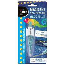 decoratietape emoticons Magic Roller 4 m blauw/wit