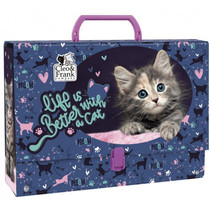 opbergkoffer meisjes 33 x 24 cm karton donkerblauw