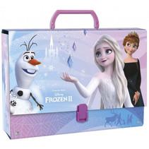 opbergkoffer Frozen II meisjes 33 x 24 cm karton paars