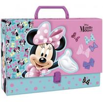 opbergkoffer Minnie Mouse meisjes 33 cm karton paars