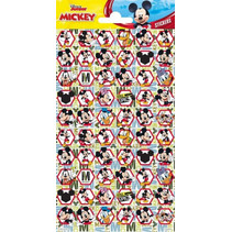 stickers Mickey Mouse 20 x 10 cm papier 60 stuks