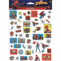 stickers Spider-Man junior 25 x 21 cm blauw/rood 50 stuks