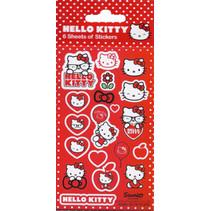 stickers Hello Kitty meisjes rood/wit 18 stuks