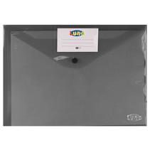 portfoliomap Office A4 polyester donkergrijs/transparant