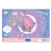 tekenblok Peppa Pig 33 x 23 cm roze 40 pagina's 3-delig