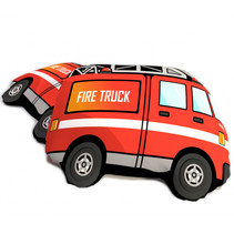 kussen Fire Truck 40 cm polyesterrood
