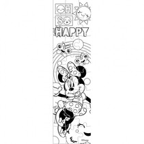 kleurpuzzeltoren Minnie Mouse junior 13 cm roze 24 stuks