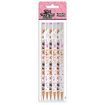 potloden NaNaNa meisjes 24 cm hout roze 6-delig
