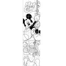 kleurpuzzeltoren Mickey Mouse junior 13 cm geel 24 stuks