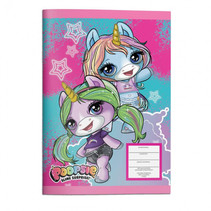 notitieboek Unicorn meisjes 17 x 24 cm papier blauw