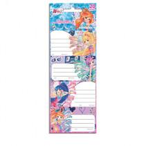 stickerlabels Winx Club meisjes papier 20-delig