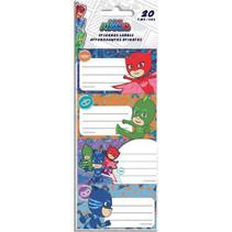 stickerlabels PJ Masks jongens papier blauw 20-delig