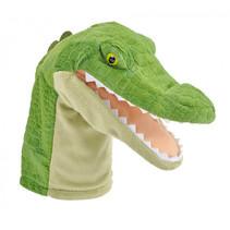 handpop Aligator junior 23 cm pluche groen