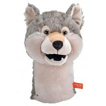 handpop Wolf junior 23 cm pluche grijs