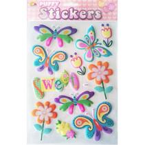 stickervel vlinder meisjes 10 x 19 cm 11 stuks