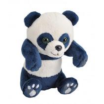knuffelpanda junior 10 cm pluche blauw/wit