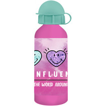 bidon junior 500 ml aluminium roze/mintgroen