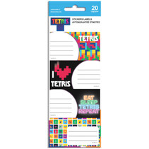 naamstickers junior papier zwart/wit 20 stuks