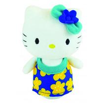 knuffel Hello Kitty junior 11 cm pluche wit/geel/blauw