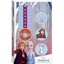 armbandenset Frozen II junior blauw/paars 6-delig