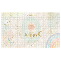 legpuzzel Happy 28 x 46 cm karton beige/goud 500-delig