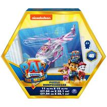 puzzel Paw Patrol junior 28 x 38 cm roze 48-delig