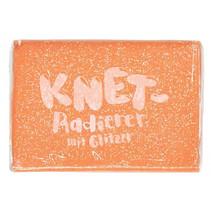 kneedgum glitter junior 6 x 4 cm polymeer oranje