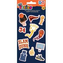 stickers Basketball Puffy vinyl blauw 11 stuks
