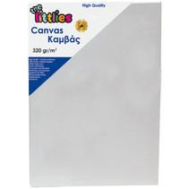 canvasdoek 320 g/m² 40 x 40 cm lichtgrijs