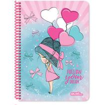 notitieboek Dream meisjes A4 papier roze 120 vellen