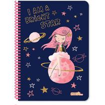 notitieboek Prinses meisjes A4 papier blauw 120 vellen