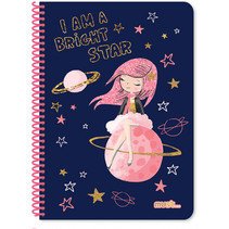 notitieboek Prinses meisjes A4 papier blauw 30 vellen
