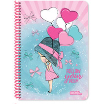 notitieboek Dream meisjes B5 papier roze 60 vellen