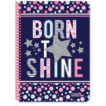 notitieboek Shine meisjes B5 papier blauw 60 vellen