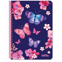 notitieboek Vlinders meisjes B5 papier blauw 60 vellen