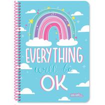 notitieboek Rainbow meisjes B5 papier blauw 60 vellen