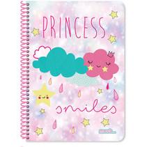 notitieboek Princess meisjes B5 papier roze 60 vellen