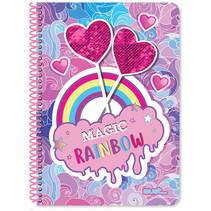 notitieboek Hearts meisjes B5 papier paars/roze 60 vellen