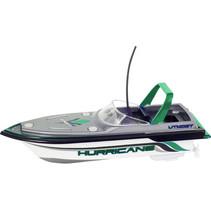 speedboot RC junior 16 x 7 cm grijs/groen 6-delig