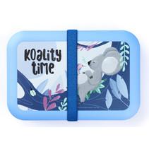 broodtrommel Koality Time 21 x 14 cm polypropyleen blauw