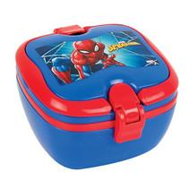 broodtrommel Spider-Man 2,5 liter PVC blauw 3-delig