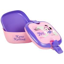 broodtrommel Minnie meisjes 2,5 liter PVC roze 3-delig