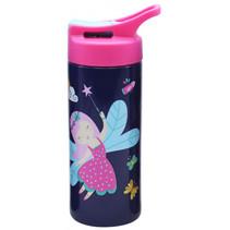 drinkfles junior 500 ml 7,5 x 17 cm RVS donkerblauw/roze