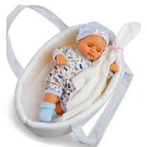 babypop met accessoires junior 34 cm blauw 5-delig